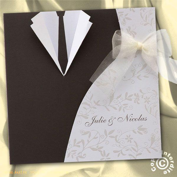 faire part mariage robe de mari e et costume ma15 050 mariage pinterest mariage et. Black Bedroom Furniture Sets. Home Design Ideas