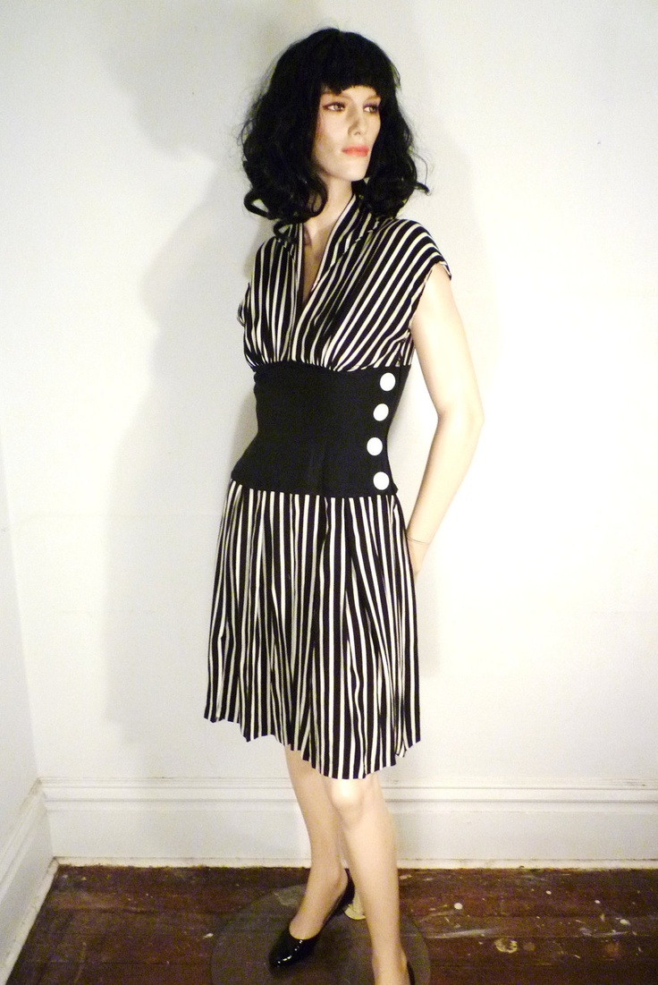Vintage 1950's dress Jail Bait black and by VoyeurVintage. This dress is tiny, if it fit it would be mine.