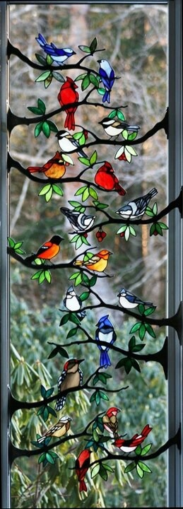 *birds on branches