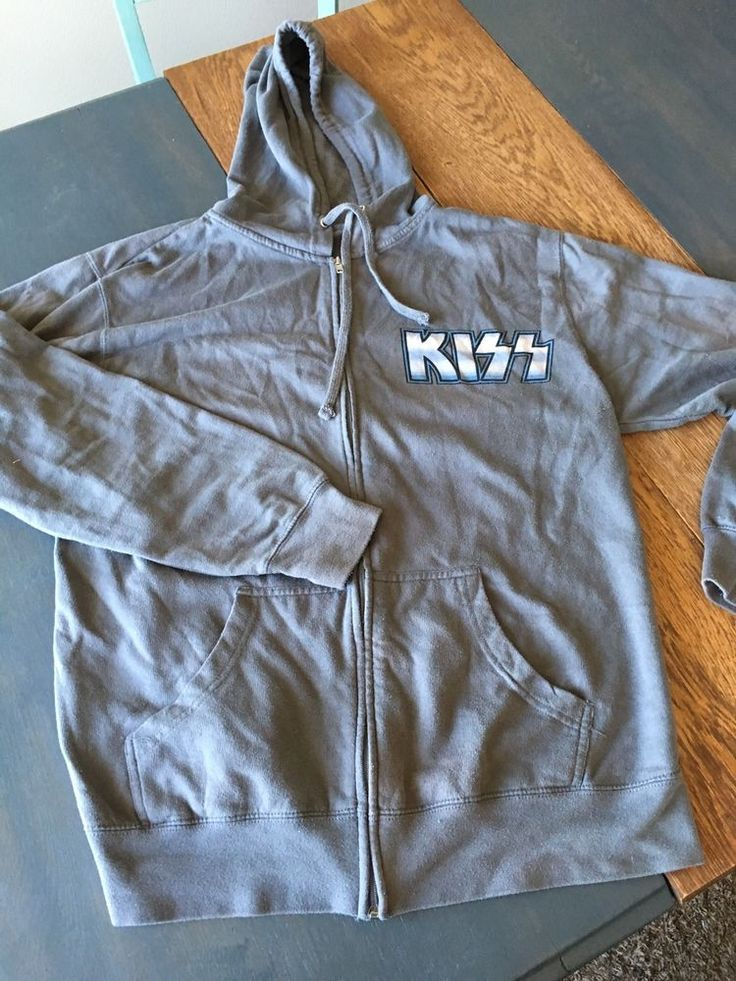 Kiss Rock Band If Its Too Loud Youre Too Old Hoody Sweater XL Mens Gray Concert  #Grays