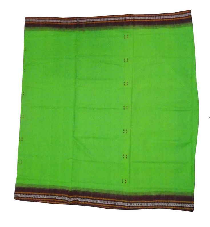 Ikat Handloom Sambalpuri Cotton Saree in Lime Green color – OdiKala