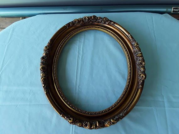 Large Oval Open Frame Resin Floral Frame Oval Picture Frame