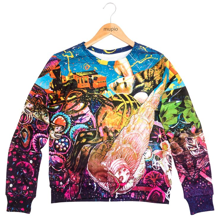 Price: 40 EURO  A unique color graphics is another motif that appears on our sweatshirts.  A graphic collage by Zbigniew Gorlaka, is an option for those who like a fountain of colors.  The number of products is limited.