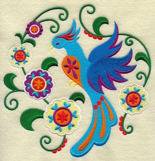 Stylin' Suzani Bird Circle 2 design (J2666) from www.Emblibrary.com
