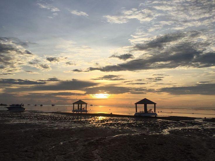 sunset @ semawang Beach, Sanur, Bali