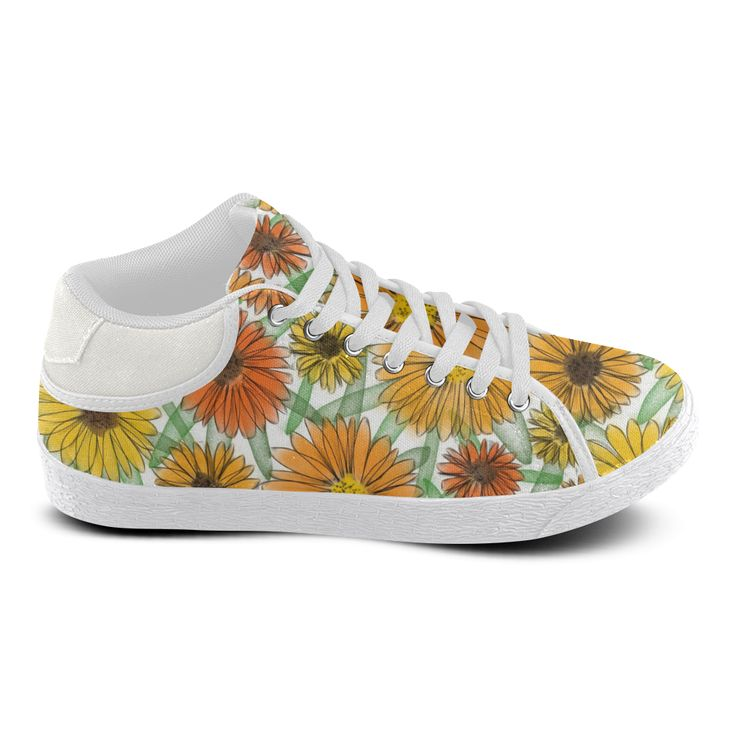 Calendula. Inspired by the magic Island of Gotland. Men's Chukka Canvas Shoes (Model 003)