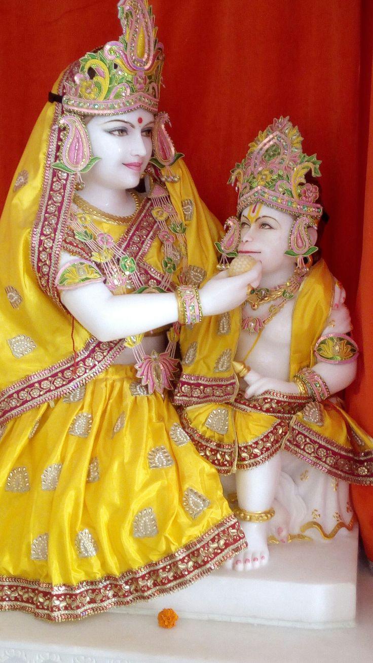 Hanuman ji with mother
