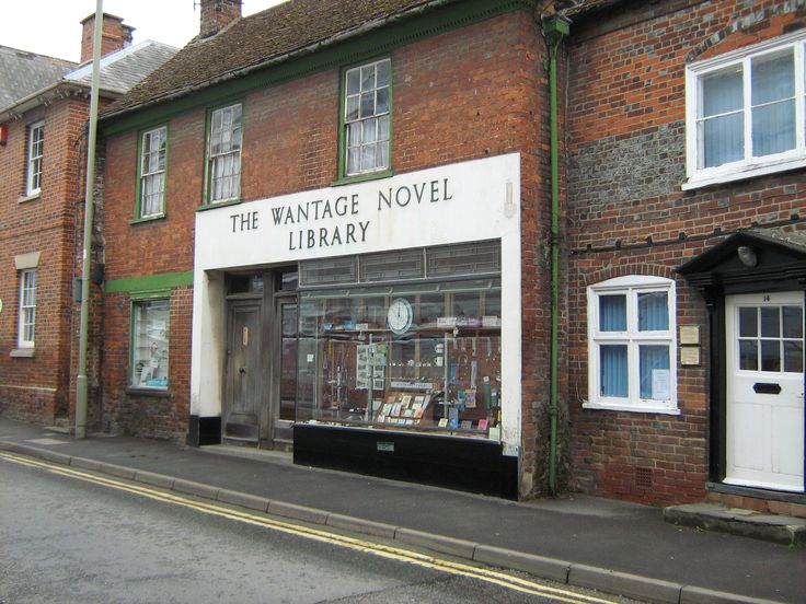 A common sight in most towns years ago, the private lending library.  Wantage. England,