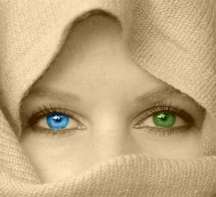 I have two different colored eyes, one blue and one green.  That's part of what makes me, me.