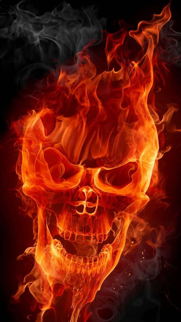 Flaming Skull Wallpaper By Ademoss80 41 Free On Zedge Skull Wallpaper Skull Skull Artwork