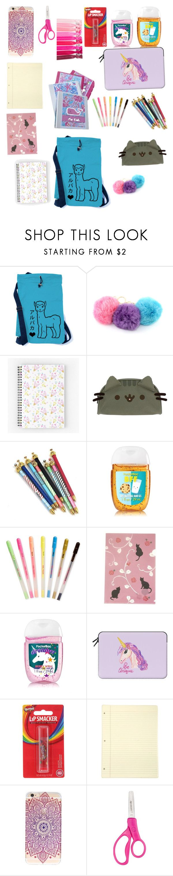"""""""Cute school supplies"""" by spaceunicorn101 ❤ liked on Polyvore featuring Pushee..."""