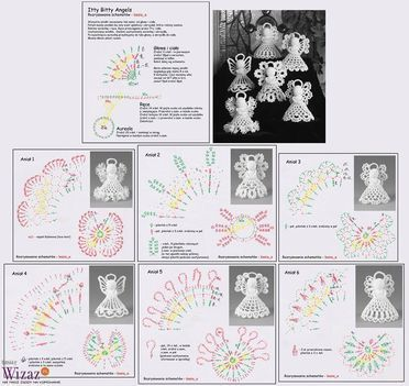 Crochet angels chart pattern
