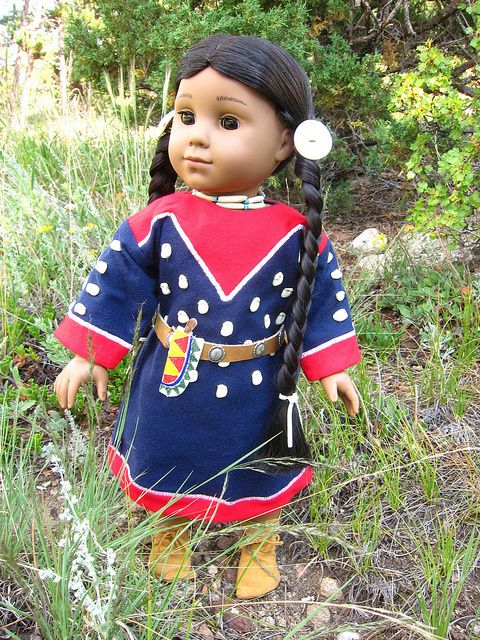 free sewing pattern for Native American Plains Costume - Kaya, American Girl Doll