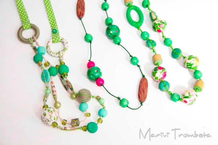 Necklaces tottaly handmade. $10,50, via Etsy.