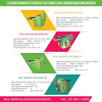 Wire Nail Making Machine: Wire Nail Machine-01 | High Speed Wire Nail Machin...