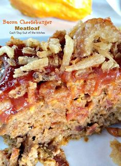 Bacon Cheeseburger Meatloaf - Paula Deen