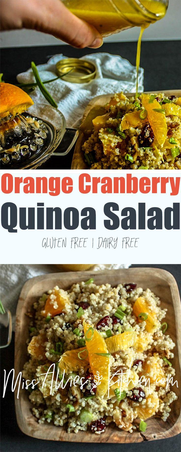 Orange Cranberry Quinoa Salad