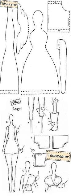 Tilda andělská vzory zdarma |  Mistr vlnovka (tildamaster)