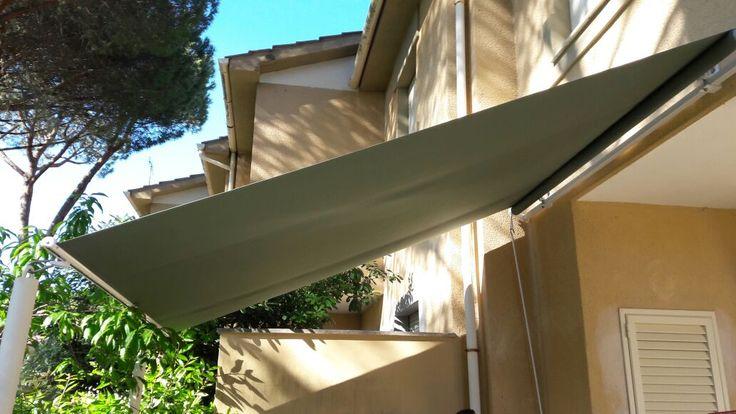 tenda a vela per copertura giardino appartamento