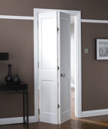 B Avesta 4 Panel Primed Bi-fold Internal Door NAT26BIAD4 White, NAT26BIAD4