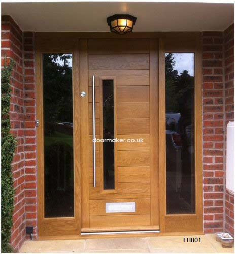 Oak External Door Frame With Sidelights