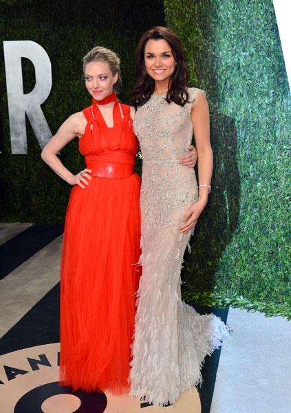 Amanda Seyfried and Samantha Barks Vanity Fair Party 2013