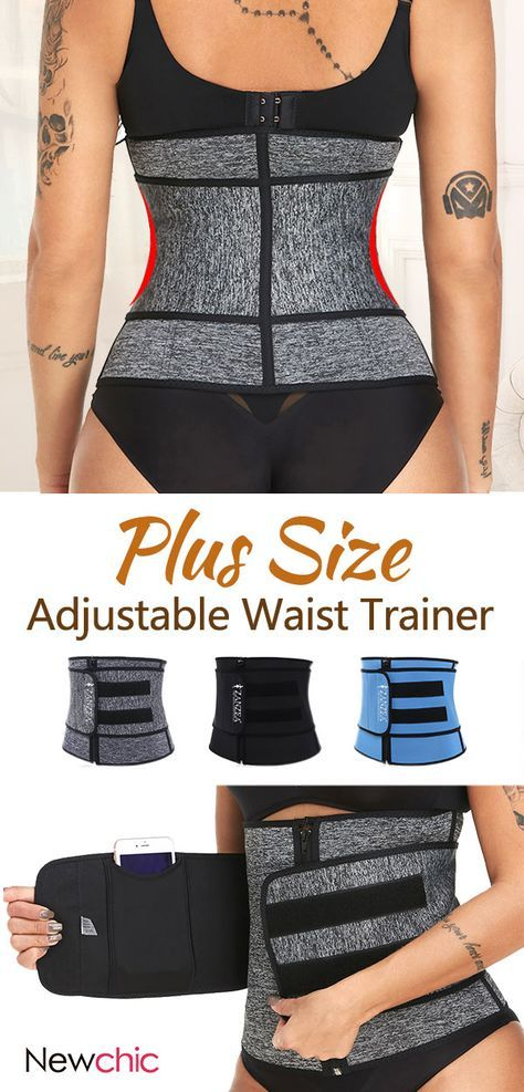 26ed2003f1f Plus Size Neoprene Tummy Control Sports Zipper Adjustable Waist Trainer  Steel Bones Slimming Sauna  shapewear  adjustable  waist  trainner