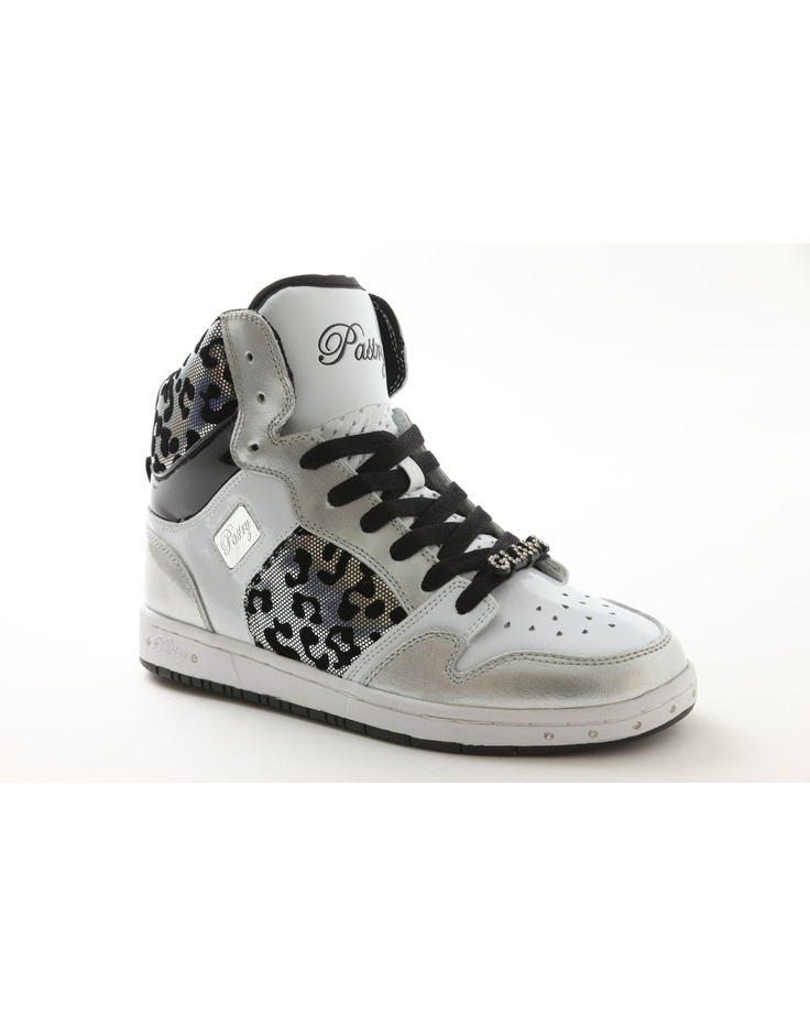 Freshly Baked Glam Pie Foil Cheetah Side Detail Black White Monochrome  Official Pastry Shoes Sneakers Trainers High Tops Top Footwear by Vanessa  and Angela ...