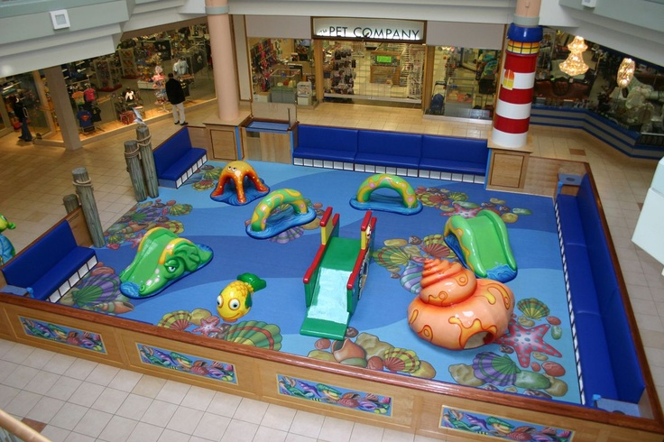 The underwater play park at Hamilton Mall in May's Landing, NJ, features seashells and starfish and even a lighthouse!  For more information on Center Stage play parks, visit: www.cspdisplay.com/soft-play-parks