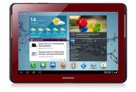 Red Tablet? Why not! SAMSUNG N8000 Galaxy Note 10.1 in Red