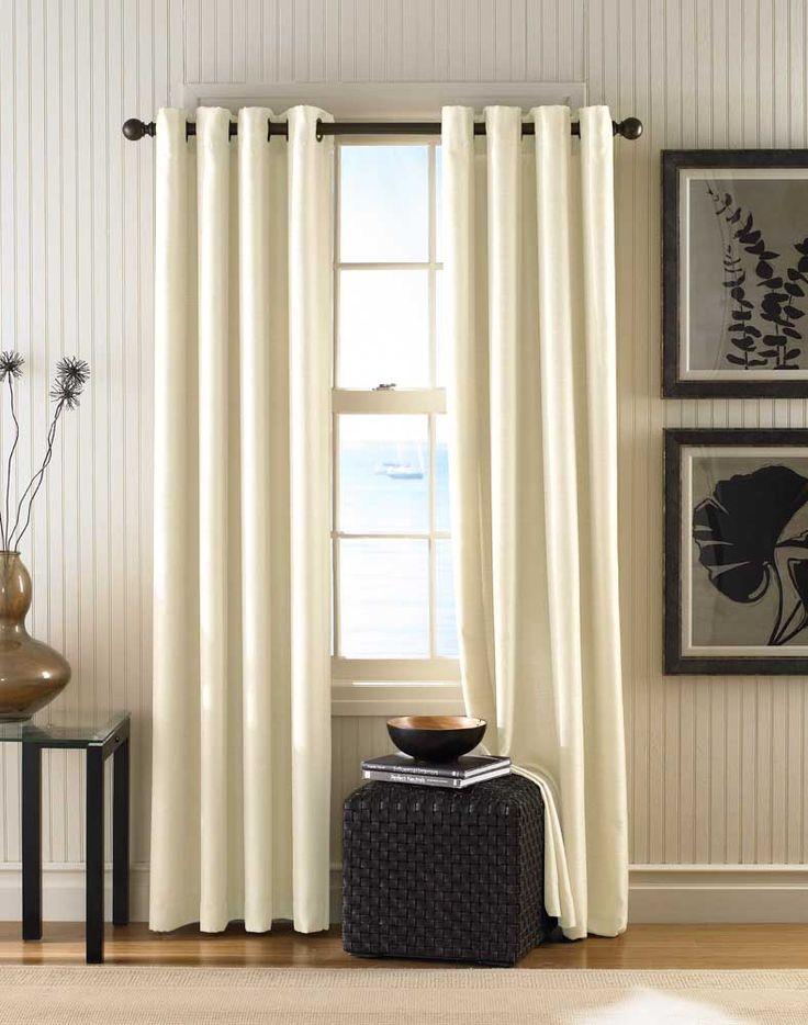 Monterey Textured Lined Grommet Drapery Alabaster