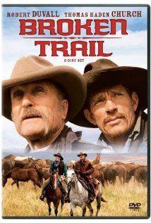 Broken Trail (2006)  Stars: Robert Duvall, Thomas Haden Church and Greta Scacchi. Just watched it again.