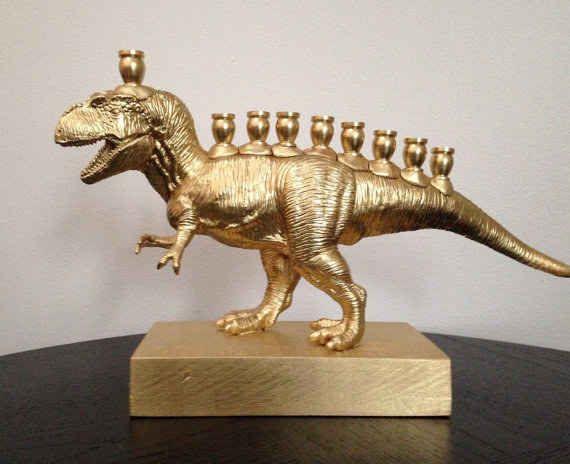 MENORASAURUS REX. Stop What You're Doing And Look At This Amazing Dinosaur Menorah