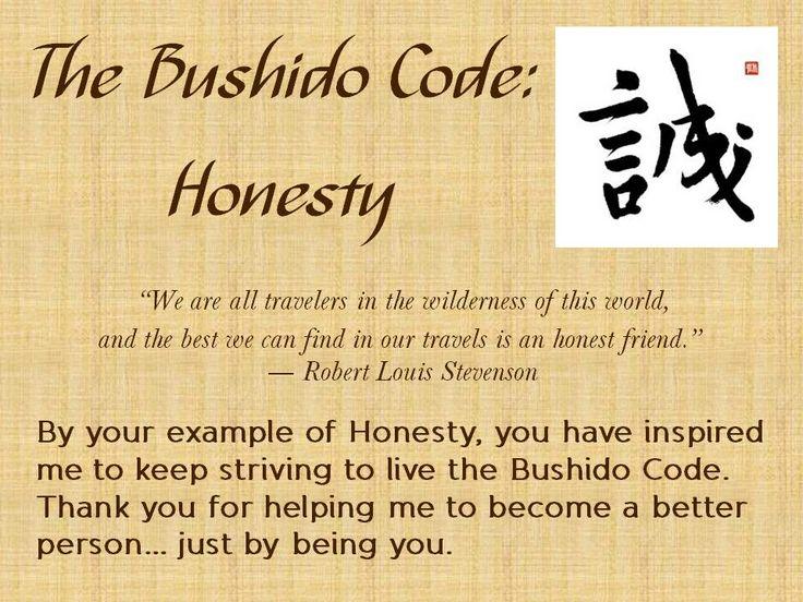 The Bushido Code - Honesty