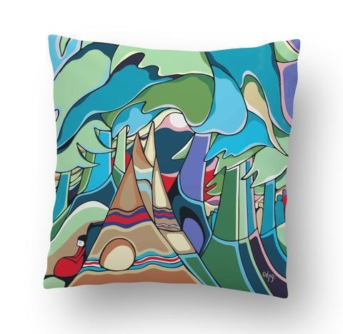 Daphne Odjig And Some Watched the Sunset Cushion Cover