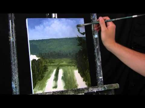 Time Lapse Acrylic Landscape Painting by Tim Gagnon, The BBR Side Road