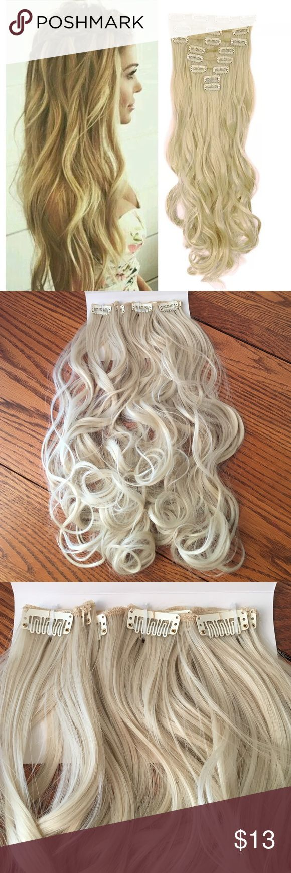 213 best my posh closet images on pinterest stains hair 8piece 17 l curly synthetic extensions blonde pmusecretfo Image collections
