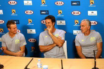 Lleyton Hewitt to retire from tennis after 2016 Australian Open, Pat Rafter stands down as Davis Cup captain  http://www.abc.net.au/news/2015-01-29/hewitt-to-retire-after-2016-australian-open/6055726