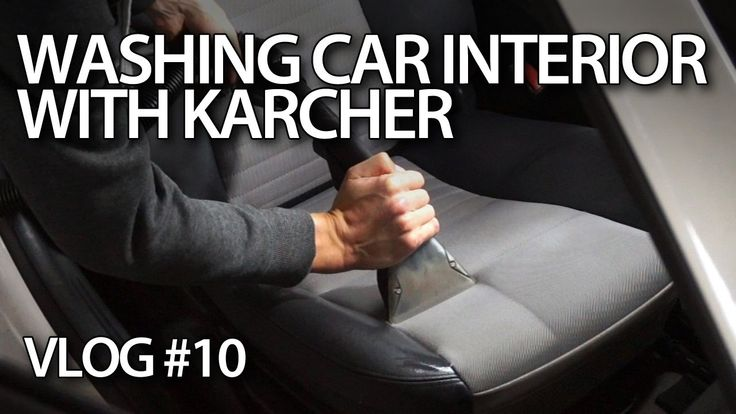 #Washing car interior #upholstery with #Karcher Puzzi #cars #maintenance #detailing
