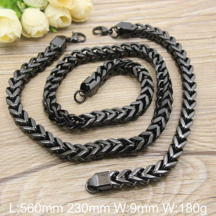 Find More Jewelry Sets Information about HOT Stainless Steel fashion Jewelry Pure black Color Bracelet +Necklace sets for women and men  SGEACBFC,High Quality bracelet mens,China set mark Suppliers, Cheap bracelet plastic from JOYAS STAINLESS STEEL JEWELRY on Aliexpress.com