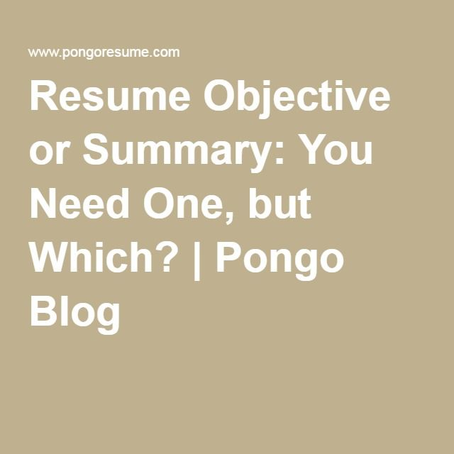The 25+ best Resume objective ideas on Pinterest Good objective - how to write a summary for a resume
