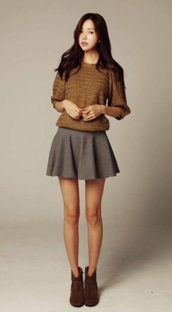 25 best ideas about jupe patineuse noire on pinterest - Tenue avec jupe en cuir ...
