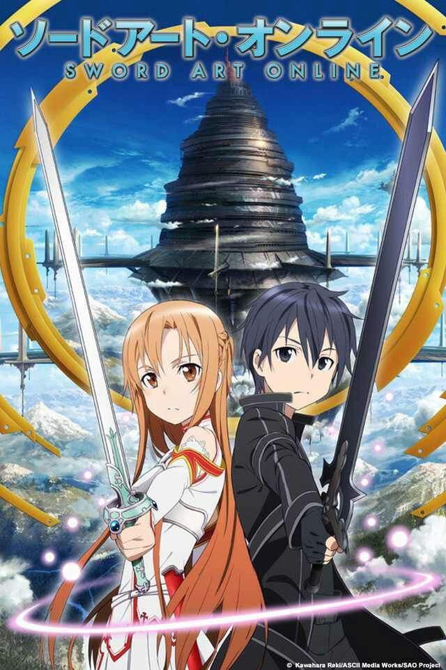"""Sword Art Online"" About the Show: In the near future, a Virtual Reality Massive Multiplayer Online Role-Playing Game (VRMMORPG) called Sword Art Online has been released where players control their avatars with their bodies using a piece of technology called: Nerve Gear. One day, players discover they cannot log out, as the game creator is holding them captive unless they reach the 100th floor of the game's tower and defeat the final boss. However, if they die in the game, they die in real…"