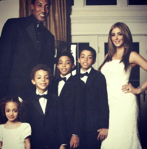 Scotty Pippen, His Wife & Their Children