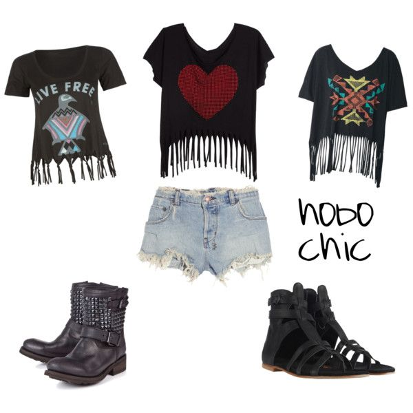 hobo chic, great because i have the shirt in the middle :P