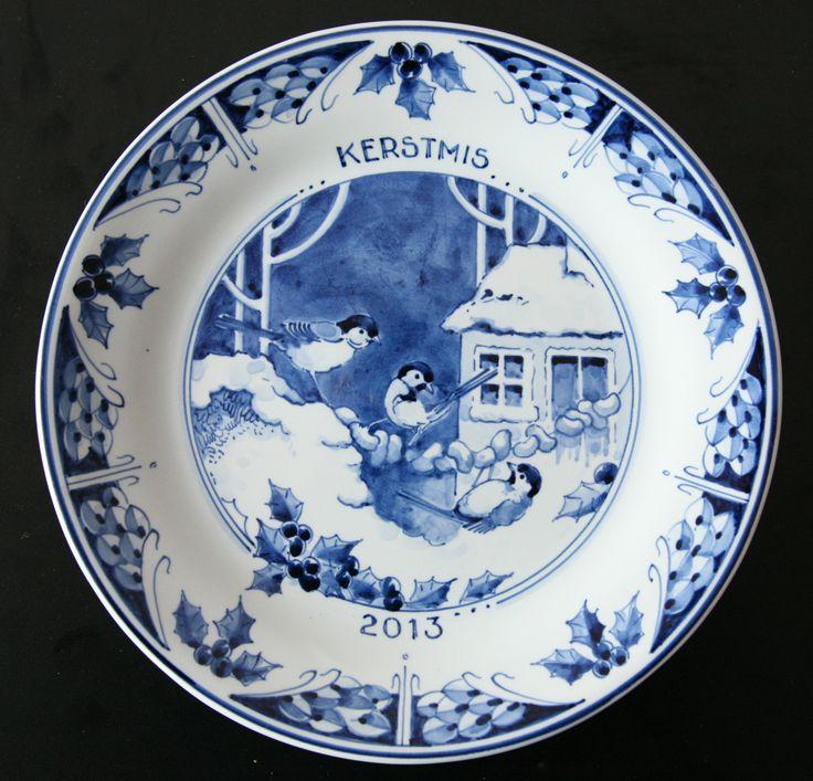 Christmas Delft Blue plate