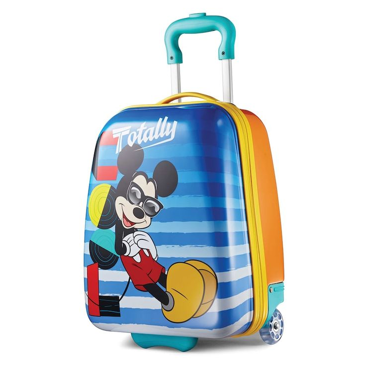 Disney Mickey Mouse 18-Inch Hardside Wheeled Luggage by American Tourister, Multicolor