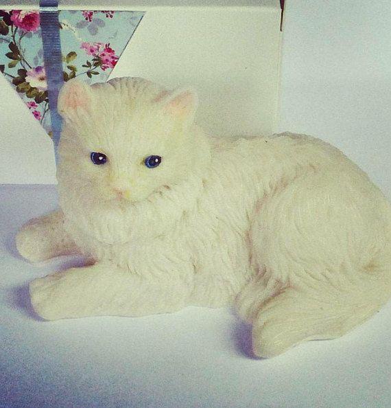 Cat soap gift Cat lover's gift soap Fluffy cat Soap