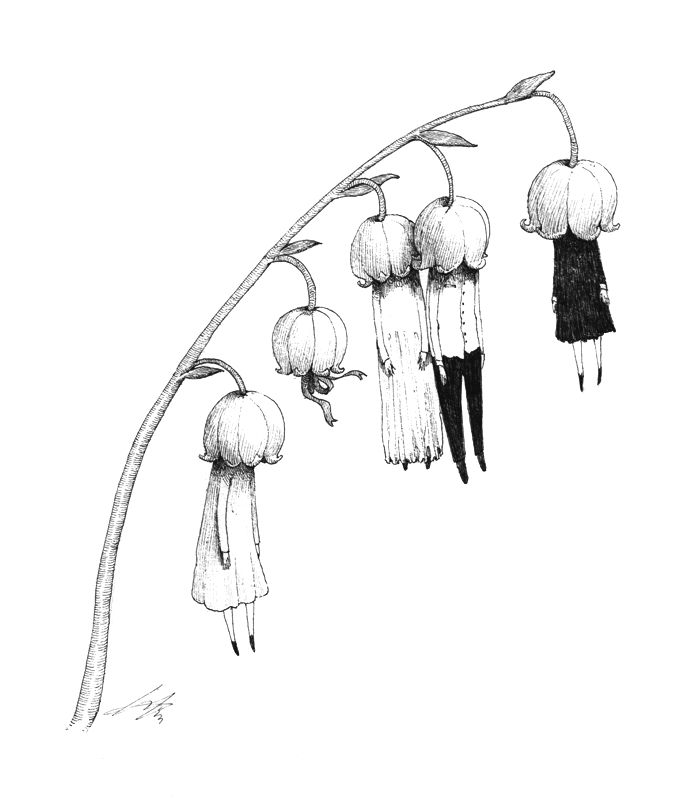 Sungwon aka Spowsy (Seoul, South Korea) - Dangle, 2013 Drawings: Pen on Paper: