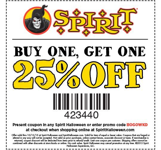image regarding Printable Spirit Halloween Store Coupon identify Pinned Oct 25th 10 off 40 these days at Spirit Halloween or